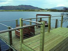 To complement our Pro-Railing range of products, we offer a wire rope system as a choice of infill. The stainless steel 3mm strand wire rope system is a simple and cost effective alternative to our cross bar system. It can be fixed to most surfaces including wood, metal and brick and gives an industrial feel to your balustrade, making it ideal for external applications in residential and commercial environments. Stainless Steel Balustrade, Brick, Construction, Range, Railings, Landscape, Architecture, Building, Outdoor Decor