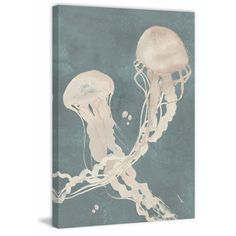 Jellyfish Dance II' Painting Print on Wrapped Canvas
