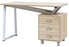 Merax Computer Desk with Drawer Durable Workstation for Office and Home OfficeLight Oak -- Continue to the product at the image link.(It is Amazon affiliate link) #HomeOfficeFitting