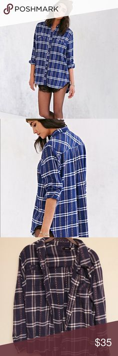BDG Urban Obie Flannel Button Down Worn a few times. In perfect condition!! Purchased at Urban BDG Tops Button Down Shirts