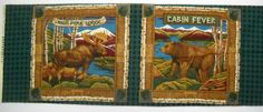 Moose Bear Cabin Fever Pillow Panel Quilt Fabric High Peak Lodge Concord Fabrics by SeaPillowTreasures on Etsy