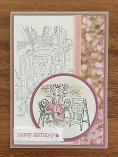 Stampin Up Mediterranean Moments with Gifts of Kindness used for the sentiment.  DSP is Falling in Love.