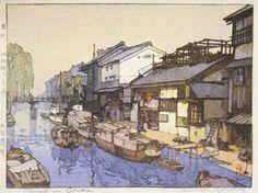 Canal in Osaka by Hiroshi Yoshida, 1941