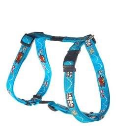 Rogz Beach Bum Harness Comic, Large, 20 mm, Blue for sale online Dog Collar With Name, Collar And Leash, Pet Shop Online, Dog Control, Beach Dresses, Dress Beach, Dog Collars & Leashes, Dog Harness, Beach Bum