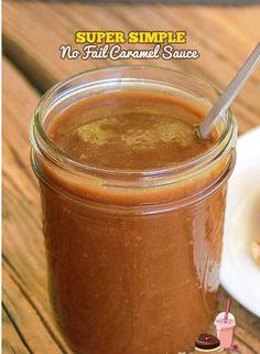 Super Simple No Fail Caramel Sauce.  #Food #Drink #Trusper #Tip