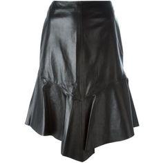 Givenchy Leather Peplum Skirt
