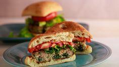 Greek feta and spinach burgers