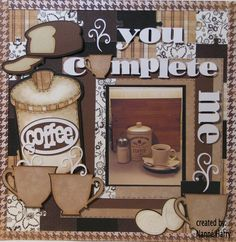 Coffee themed layout using from my kitchen cart an.d more