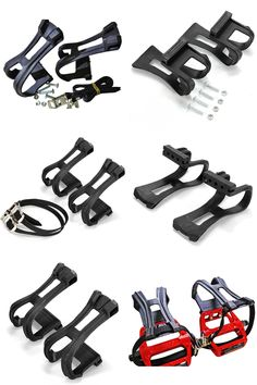New Pure Fix Bike Platform Pedals Foot Straps Strong Double Hold Anti-Slip Blue