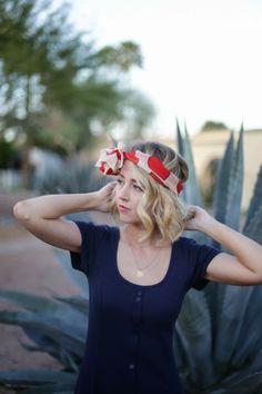 silk summer headscarf #bob #blonde