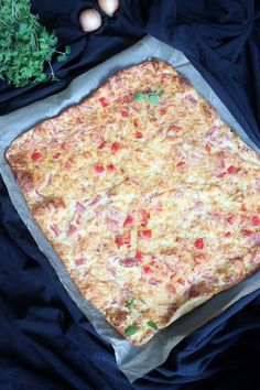 Pienet herkkusuut: Suolainen pannukakku No Salt Recipes, Cooking Recipes, Pizza, Cheese, Baking, Breakfast, Food, Cooking, Morning Coffee