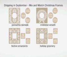 Anna Griffin Mix and Match Embossing Folders September Shipment 2015