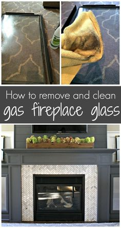 How to clean gas fireplace glass to make it shine from Thrifty Decor Chick! Deep Cleaning Tips, House Cleaning Tips, Cleaning Solutions, Spring Cleaning, Cleaning Hacks, Cleaning Crew, Hardwood Floor Cleaner, Homemade Toilet Cleaner, Clean Baking Pans