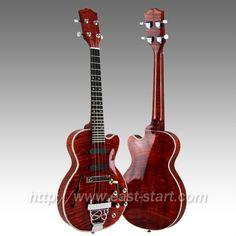 #Jazz Ukulele, #electric ukulele, #hollow body jazz ukulele