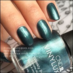 """CND Vinylux Fern Flannel over Denim Patch - """"two coats of Fern Flannel would look exactly the same as one coat over my Denim Patch"""""""