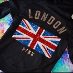 Selling this NWT VS PINK BLING LONDON FASHION SHOW HOODIE XS in my Poshmark closet! My username is: cmccullough9. #shopmycloset #poshmark #fashion #shopping #style #forsale #PINK Victoria's Secret #Jackets