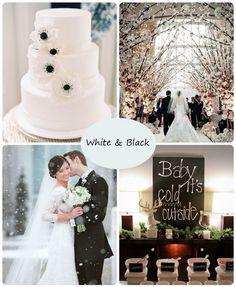 Winter Wedding Black And White Wedding Ideas U0026 Wedding Cakes U0026 Wedding  Decorations U0026 Wedding Dress