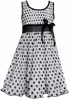 Black White Sequin Waist Crystal Pleat Dotted Chiffon Dress BW3SP, Black/White, Bonnie Jean Little Girls 2T-6X Bonnie Jean,http://www.amazon.com/dp/B00IA37RTQ/ref=cm_sw_r_pi_dp_gx88sb1M3XCWM0SV