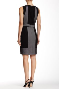 Mesh Block Sheath Dress by Adrianna Papell on @nordstrom_rack