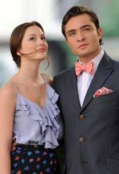 Blair Waldorf and Chuck Bass from the Gossip Girl series, love phrases Gossip Girl Blair, Gossip Girls, Moda Gossip Girl, Gossip Girl Chuck, Vanessa Gossip Girl, Gossip Girl Serie, Estilo Gossip Girl, Gossip Girl Quotes, Gossip Girl Outfits