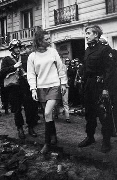 France. Demonstration, Paris,1968.