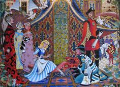 The mosaic mural is formed with 300,000 pieces of glass and used over 500 different colors.Cinderella Castle