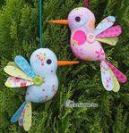 Hum Along Bird Pattern - Fabric Crafts Bird Patterns, Fabric Patterns, Fabric Gifts, Sewing Toys, Felt Toys, Crochet Animals, School Projects, Birds, Dolls