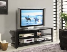 Innovex Oxford TV Stand, 65-Inch, Black - http://www.specialdaysgift.com/innovex-oxford-tv-stand-65-inch-black/