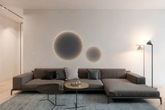 Harmonious modern interior for a young couple by ZOOI on Behance Furniture Styles, Home Decor Furniture, Sofa Furniture, Living Room Furniture, Furniture Design, Masculine Living Rooms, Living Room Modern, Home Living Room, Living Room Designs