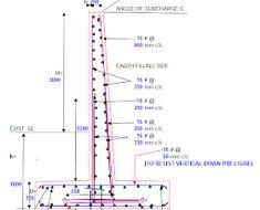 Clube do Concreto: Planilha para muro de arrimo Retaining Wall Construction, Building Foundation, Retaining Walls, Concrete Design, Beams, Engineering, Steel, Club, Reinforced Concrete