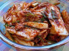 겉절이 Asian Recipes, Gourmet Recipes, Healthy Recipes, Easy Recipes, Korean Dishes, Korean Food, Korean Vegetables, K Food, Kimchi