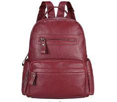 355ce1cf8fda Leather Backpack Women Bags Preppy Style Backpack Girls School Bags Zipper  Shoulder Women s Back Pack