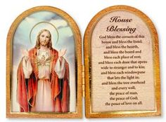Sacred Heart of Jesus Folding Plaque. Catholic Store, Catholic Gifts, Religious Gifts, Virgin Mary Statue, House Blessing, Our Lady Of Lourdes, Heart Of Jesus, Sacred Heart, Wall