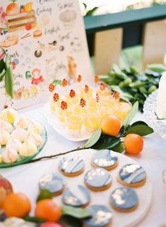 "Marble cookies and meringues by Quincy Lane for Aiden's ""In the Orange Garden"" Party : Design and Styling by ELK Prints. Orange Birthday Parties, Birthday Party Decorations, Chicken Risotto, Giant Balloons, Sugar Flowers, Savoury Dishes, Prosecco, Pinwheels, Elk"