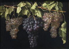 Juan Fernández el Labrador - Bodegón con cuatro racimos de uvas