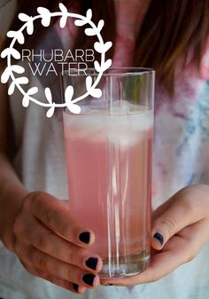 The Perfect Pear: RHUBARB WATER