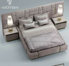 Check out this important illustration as well as browse through today tips on bedroom furniture sets Bed Headboard Design, Bedroom Furniture Design, Master Bedroom Design, Headboards For Beds, Bed Furniture, Bedroom Decor, Modern Luxury Bedroom, Luxurious Bedrooms, Modern Interior