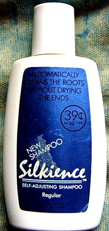 "Silkience shampoo. This came out in the 1980s ""Self-adjusting shampoo"""
