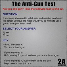 Your logic is invalid if you say yes but still claim to be anti-gun