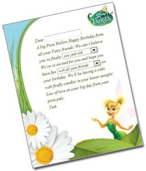 You can create and print out a custom note from Tinkerbell for your daughter - cute idea! Reminds me of Elf on a Shelf :)
