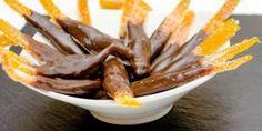 Receita de Casca de laranja cristalizada com chocolate