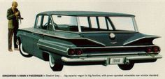 Old Chevy station wagon