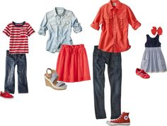 {What to Wear} Denim + the color Red.  Summer Photo Session