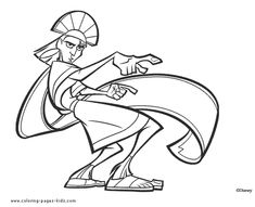 Kuzco the Emperor, The Emperor's New Groove color page, disney coloring pages, color plate, coloring sheet,printable coloring picture