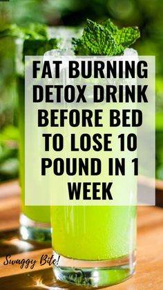Here is a powerful fat burning detox drink before bed to lose 10 pounds in 1 wee. - Here is a powerful fat burning detox drink before bed to lose 10 pounds in 1 week safely. Detox Cleanse For Weight Loss, Full Body Detox, Detox Your Body, Cleanse Detox, Juice Cleanse, Health Cleanse, Detox Soup, Detox Tea, 1 Week Detox