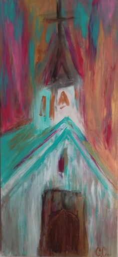 Church Painting on Etsy, $65.00