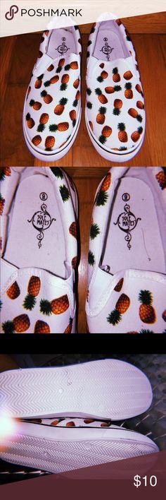 c5c10acd4605 Pineapple slip on sneakers 🍍