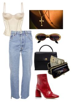 """Untitled #159"" by m3287 ❤ liked on Polyvore featuring STELLA McCARTNEY, E L L E R Y, Vetements, Gucci, Chanel and AmeriLeather"