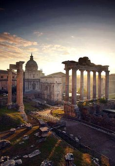 The Forum, Rome, Italy. One of my favorite places in Rome. Places Around The World, Oh The Places You'll Go, Travel Around The World, Places To Travel, Rome Places To Visit, Dream Vacations, Vacation Spots, Vacation Travel, Cruise Travel