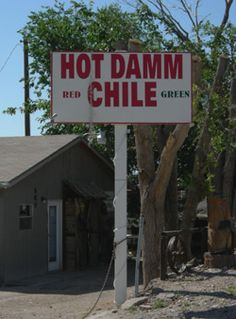 "Hatch, New Mexico -- The most commonly asked question in NM is ""Red or Green?"" As in, what color/flavor of chile would you like?"